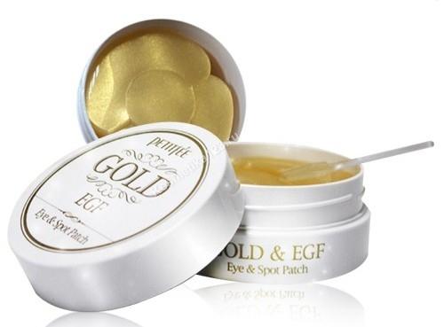 Гидрогелевые патчи для глаз с золотом и EGF - PETITFEE Premium Gold & EGF Eye Patch&Spot Patch - 60шт+30шт точечных