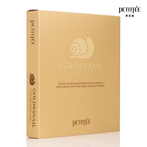 Гидрогелевая маска для лица с золотом и улиткой, 5 масок