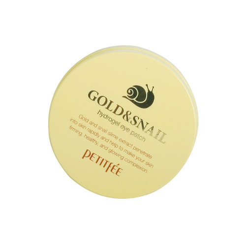 Petitfee Gold & Snail Hydrogel Eye Patch, 60штук