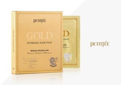 Гидрогелевая маска для лица с золотомым комплексом +5 PETITFEE Gold Hydrogel Mask Pack, 5шт