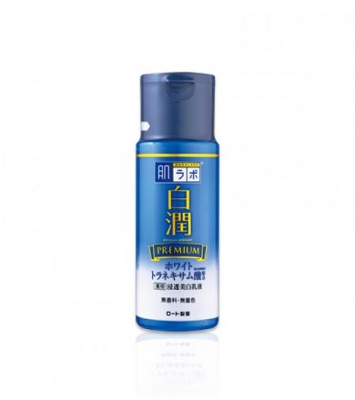 Премиум отбеливающее молочко с транексамовой кислотой Hada Labo Shirojyun Premium Medicated Whitening Milk 140ml