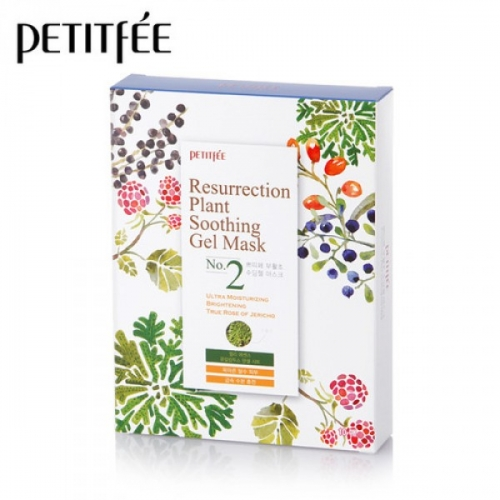 PETITFEE Resurrection Plant Soothing Gel Mask, 10 масок