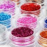 Набор блесток для дизайна ногтей, 12 цветов
