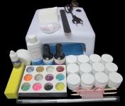 Набор для наращивания ногтей гелем с УФ Лампой