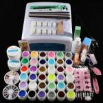 Набор для наращивания гелевых ногтей с цветными гелями 36шт