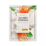 Маска для лица с протеинами шелка PETITFEE Silk Amino Serum Mask, 1шт